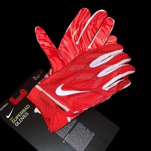 NIKE Superbad 4.5 Football Wide Receiver Gloves Sz XL Red White PGF873 663 New